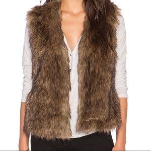 Arden B. Faux Fox Fur Vest